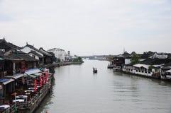 Van de zhujiajiao oud stad van Shanghai het waterdorp Royalty-vrije Stock Afbeeldingen