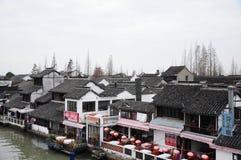 Van de zhujiajiao oud stad van Shanghai het waterdorp Royalty-vrije Stock Foto