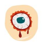 Van de zombieogen van de beeldverhaalkrabbel van het het demonbloed de vectorillustratie Royalty-vrije Stock Foto's