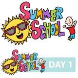 Van de zomercursuszoon en student bericht Stock Fotografie