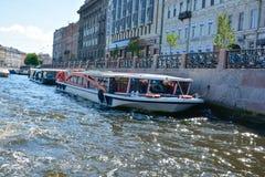 Van de de Zomertijd van Rusland, St. Petersburg de toneelmening royalty-vrije stock afbeelding