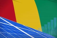 Van de de zonne-energiemacht van Guinea digitaal de grafiekconcept - vernieuwbare natuurlijke energie industriële illustratie 3D  royalty-vrije illustratie