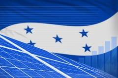 Van de de zonne-energiemacht van Honduras digitaal de grafiekconcept - moderne natuurlijke energie industriële illustratie 3D Ill stock illustratie