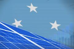 Van de de zonne-energiemacht van Micronesië digitaal de grafiekconcept - moderne natuurlijke energie industriële illustratie 3D I vector illustratie