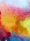 Van de de zonsondergangdecoratie waterverf abstract van de achtergrondwolkenhemel de hand mooi behang Stock Afbeeldingen