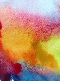 Van de de zonsondergangdecoratie waterverf abstract van de achtergrondwolkenhemel de hand mooi behang Stock Foto's
