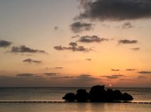 Van de zonsondergangokinawa van het Arahastrand de het strandzomer Royalty-vrije Stock Foto