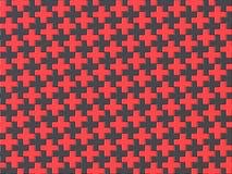 Van de zwart en rood kruispuzzel naadloos patroon als achtergrond 3 Stock Afbeelding