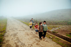 24 van December 2012, Sapa-dorp, Vietnam Stock Fotografie