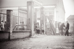 24 van December 2012, Sapa-dorp, Vietnam Stock Foto