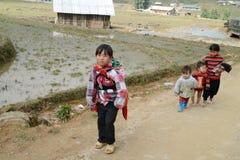 24 van December 2012, Sapa-dorp, Vietnam Royalty-vrije Stock Foto