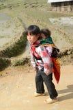 24 van December 2012, Sapa-dorp, Vietnam Royalty-vrije Stock Fotografie