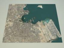 Van Dohastraten en gebouwen 3d kaart, Qatar royalty-vrije illustratie