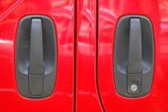 Van Doors rosso Fotografia Stock