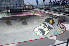 Van Doren Invitational Competition Bowl am US OPEN DES SURFENS Stockfotografie