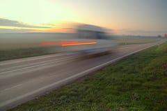 Van drive over speed limit Stock Photo