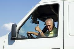 Van Driver Foto de Stock Royalty Free