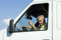 Van Driver. Portrait of van driver looking at camera Royalty Free Stock Photo
