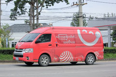Van of Dtac company. Stock Photo
