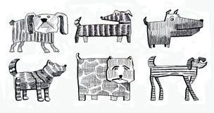 Van een hond en hond en aanbiddelijk en dier en B Royalty-vrije Stock Afbeelding