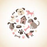 Van een hond Inzameling Stock Afbeelding