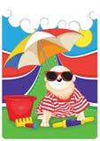 Van een hond met kleurrijke illustratie als achtergrond royalty-vrije illustratie