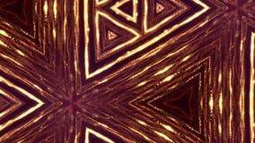 Van een lus voorzien 3d samenstelling van fonkelende gouden deeltjes op een donkere achtergrond met velddiepte en bokeh gevolgen  stock footage