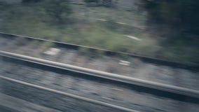 Van een treinvenster stock footage
