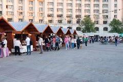 2016 van eerlijk Boekarest in Grondwetsvierkant Royalty-vrije Stock Foto