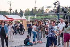 2016 van eerlijk Boekarest in Grondwetsvierkant Stock Afbeeldingen