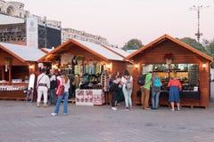 2016 van eerlijk Boekarest in Grondwetsvierkant Stock Foto