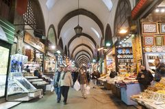 Van Egypte (Kruid) de Bazaar, Istanboel, Turkije Stock Foto