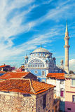 Van Fatih Camii (Esrefpasa) de oude moskee in oud deel van Izmir Royalty-vrije Stock Afbeeldingen