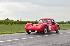 Van Fiat Revelli Spyder (1947) de looppas in verzameling Mille Miglia 2013 Stock Foto's