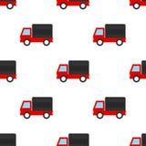 Van Flat Icon Seamless Pattern vermelho Imagens de Stock Royalty Free