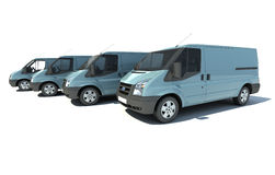 Van fleet in blue grey Royalty Free Stock Image