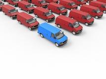Van fleet ist unterschiedliches Konzept Lizenzfreie Stockbilder
