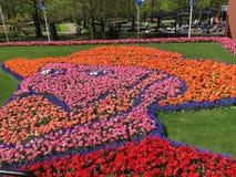 Van Gogh affronta fatto dai tulipani fotografia stock