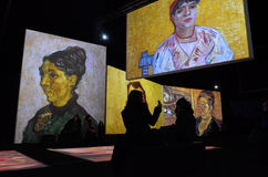 Van Gogh Alive Stockfotos