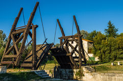 Van Gogh drawbridge. Through canal near Arles, France Stock Images