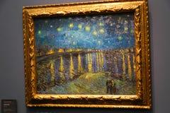 Van Gogh-het schilderen bij Orsay-museum Parijs Frankrijk royalty-vrije stock foto