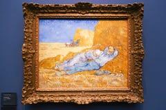 Van Gogh-het schilderen bij Orsay-museum Parijs Frankrijk royalty-vrije stock foto's