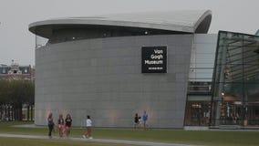 Van Gogh Museum à Amsterdam à la place de musées - AMSTERDAM - LES PAYS-BAS - 19 juillet 2017 banque de vidéos