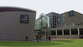 Van Gogh Museum in Amsterdam at Museums Square - AMSTERDAM - THE NETHERLANDS - JULY 19, 2017. Van Gogh Museum in Amsterdam at Museums Square - AMSTERDAM stock footage