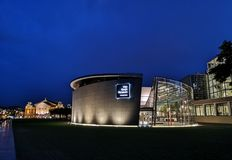 Van Gogh Museum in Amsterdam at night Stock Photography