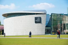 Van Gogh museum building outstanding with design architectured in Amsterdam Royalty Free Stock Image