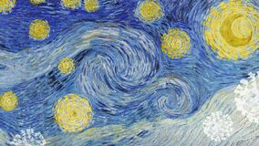 Free Van Gogh`s The Starry Night Coronavirus Pandemic Remix Banner Royalty Free Stock Photo - 217882335