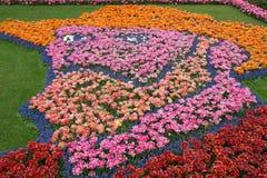 Van Gogh tulip mosaic Stock Image