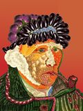 Van Gogh vom Obst und Gemüse von Lizenzfreie Stockbilder