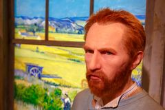 Van Gogh Wax Sculpture in Museum Royalty Free Stock Image